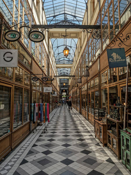 Photograph - Passage Grand Cerf - Eyeglasses Shop by Gary Karlsen