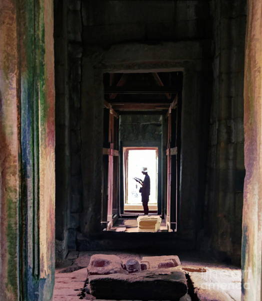 Wall Art - Photograph - Passage Through Cambodian Temple  by Chuck Kuhn