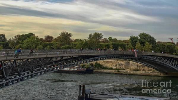 Photograph - Passerelle Leopold Sedar Senghor Pedestrian Bridge by Luther Fine Art