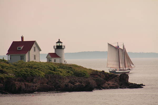 Photograph - Passing Curtis Island by Doug Mills
