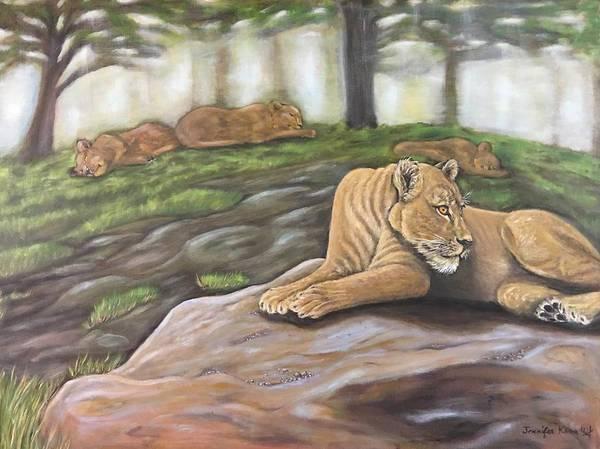 Wall Art - Painting - Passing Time by Jennifer Kwon