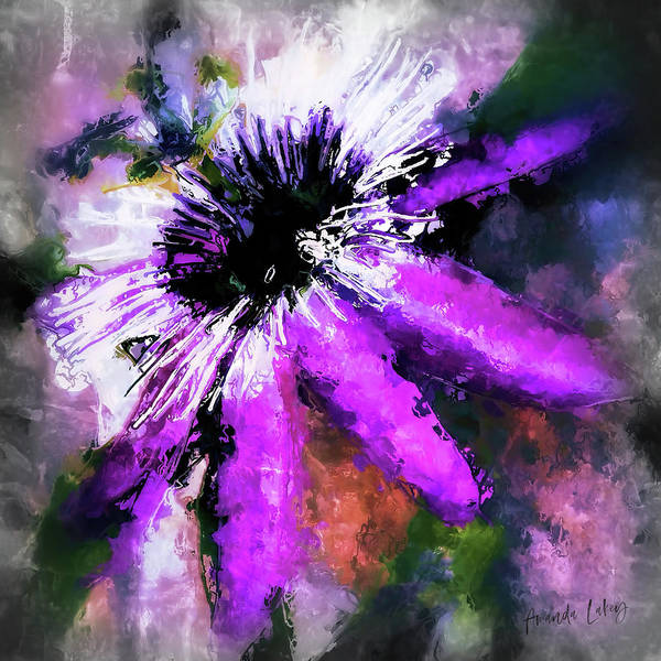 Wall Art - Mixed Media - Passion Flower  by Amanda Lakey