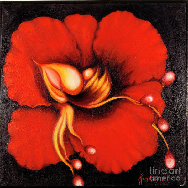 Painting - Passion Flower by Jordana Sands