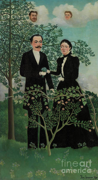 Wall Art - Painting - Past And Present, 1899  by Henri Rousseau