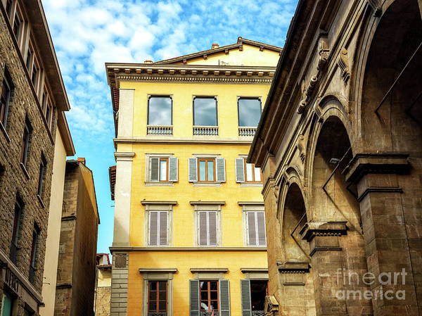 Photograph - Past The Loggia Del Porcellino In Florenc by John Rizzuto