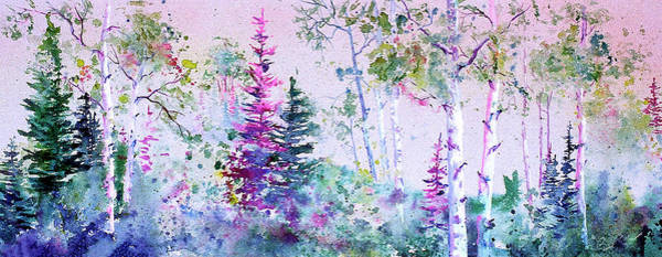 Painting - Pastel Aspen by Connie Williams