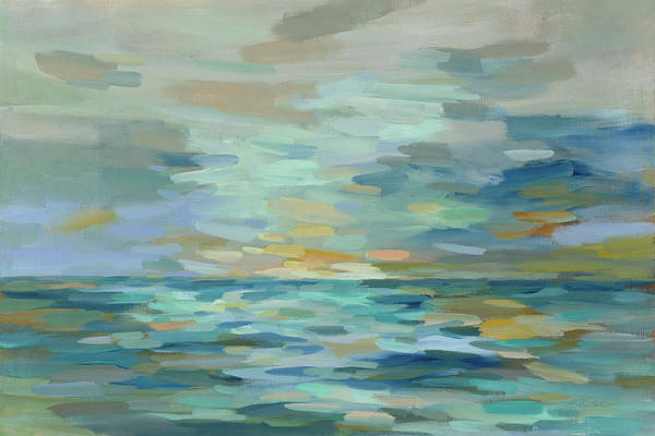 Wall Art - Painting - Pastel Blue Sea by Silvia Vassileva