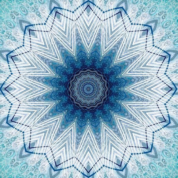Digital Art - Pastel Blue Star Mandala  by Sheila Wenzel