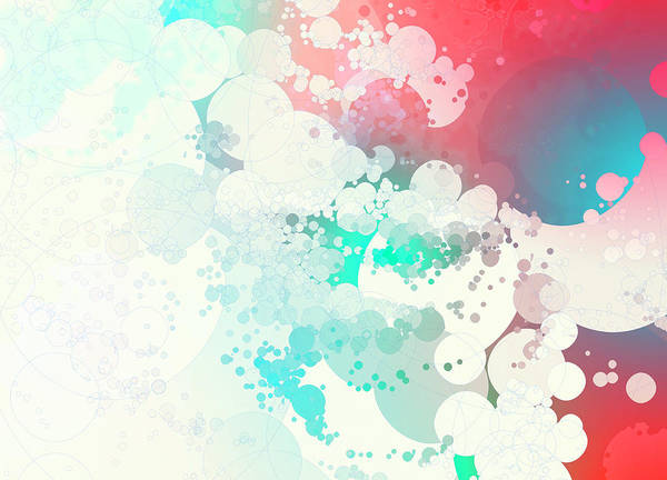 Wall Art - Photograph - Pastel Color Abstract Bubble Pattern by Ikon Images