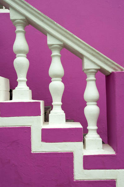 Wall Art - Photograph - Pastel Colored Steps And Railing In by F1online