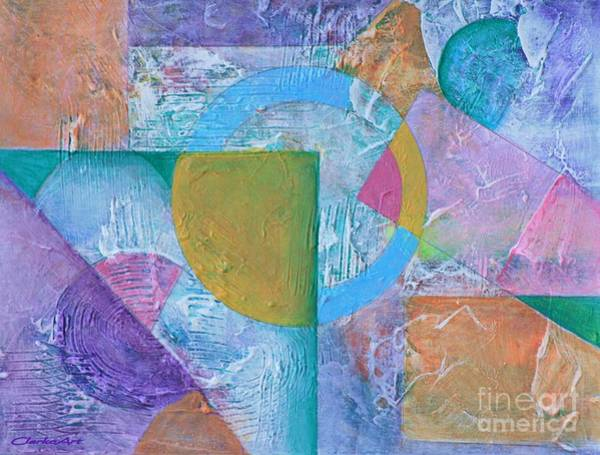 Painting - Pastel Textured Abstract by Jean Clarke