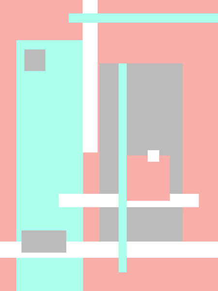 Photograph - Pastel Geometric Abstract by Jenny Rainbow