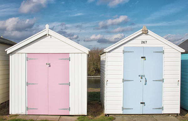 Wall Art - Photograph - Pastel Huts by Martin Newman