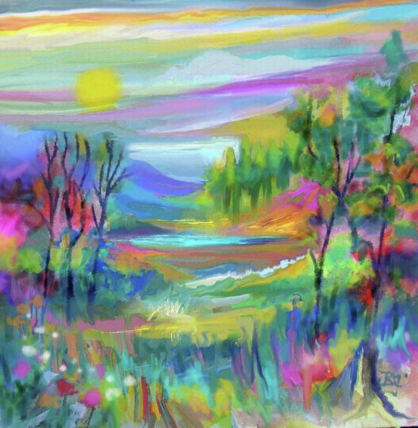 Digital Art - Pastel Landscape by Jean Batzell Fitzgerald