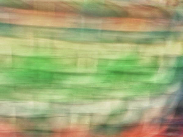 Photograph - Pastel Lines Abstract Background Of Oranges, Greens And Yellows by Teri Virbickis