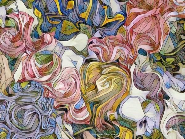Digital Art - Pastel Mosaic by Kathie Chicoine