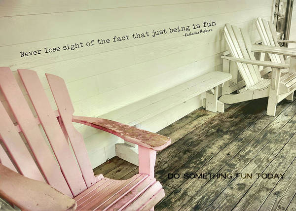 Photograph - Pastel Pink Quote by JAMART Photography