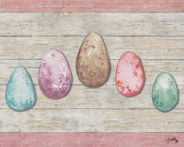 Egg Digital Art - Pastel Spring Eggs by Elizabeth Medley