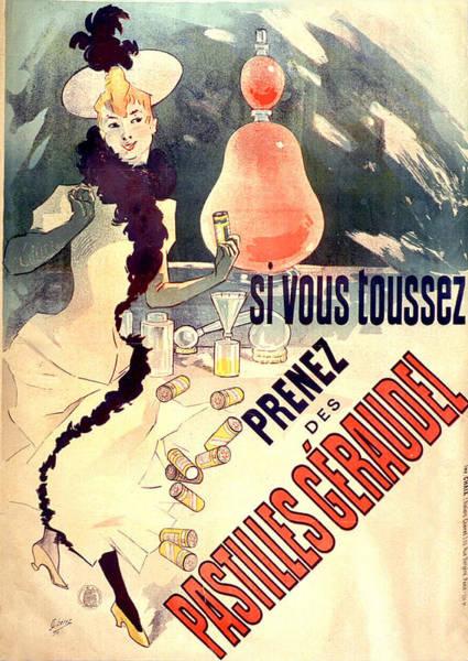 Painting -  Pastilles Geraudel Vintage French Advertising  by Vintage French Advertising