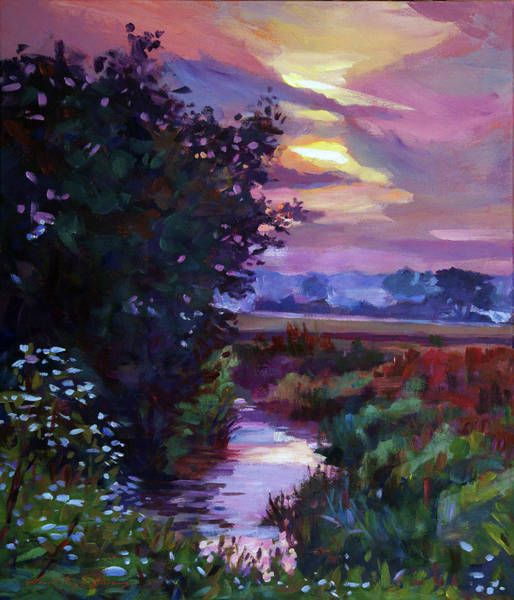 Painting - Pastoral Dawn by David Lloyd Glover