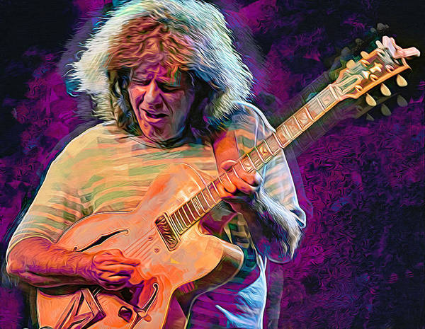 Wall Art - Mixed Media - Pat Metheny, Guitarist. by Mal Bray