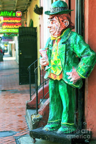 Wall Art - Photograph - Pat O'briens Leprechaun New Orleans by John Rizzuto