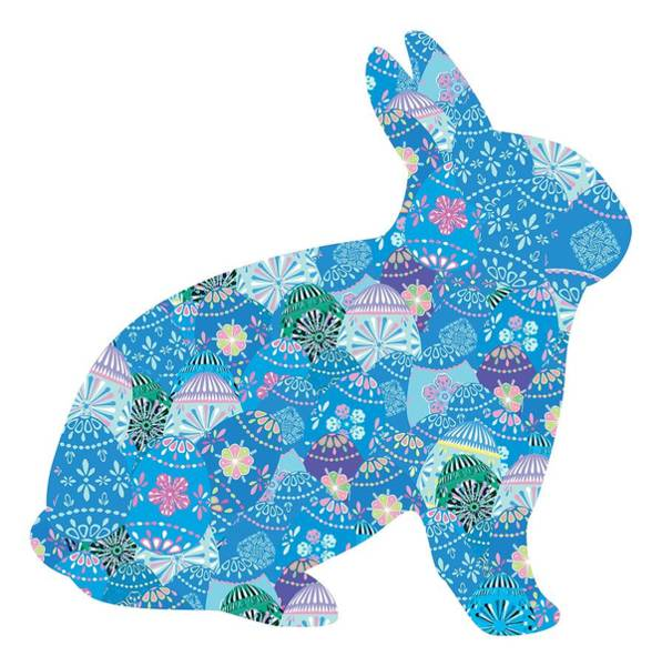 Photograph - Patchwork Bunny Rabbit by Marianne Campolongo