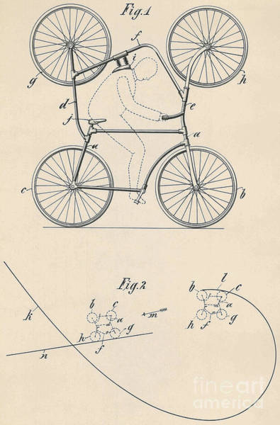 Crazy Drawing - Patent Drawing Double Bicycle For Looping The Loop, 1905 by American School