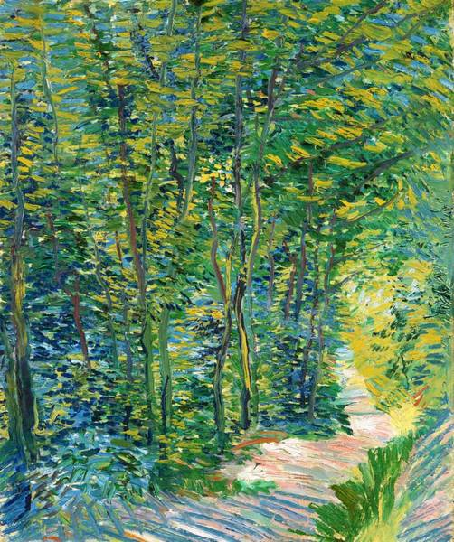 Wall Art - Painting - Path In The Woods - Digital Remastered Edition by Vincent van Gogh