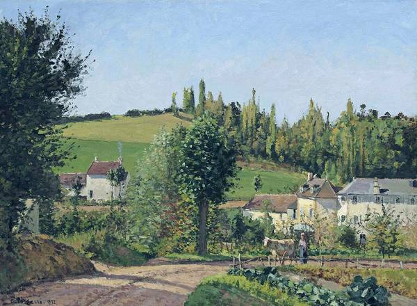 Wall Art - Painting - Path Of The Hermitage At Pontoise, 1872 by Camille Pissarro