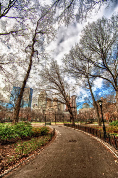 High Dynamic Range Imaging Photograph - Path Through Central Park Hdr by Hdrexposed - Dave Dicello Photography