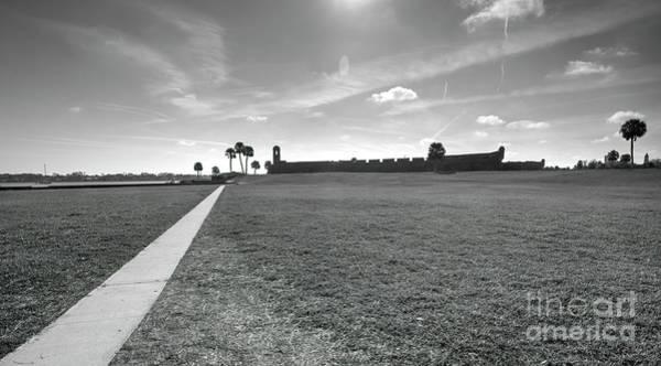 Saint Augustine Beach Wall Art - Photograph - Path To Castillo De San Marcos, St Augustine, Fl by Felix Lai