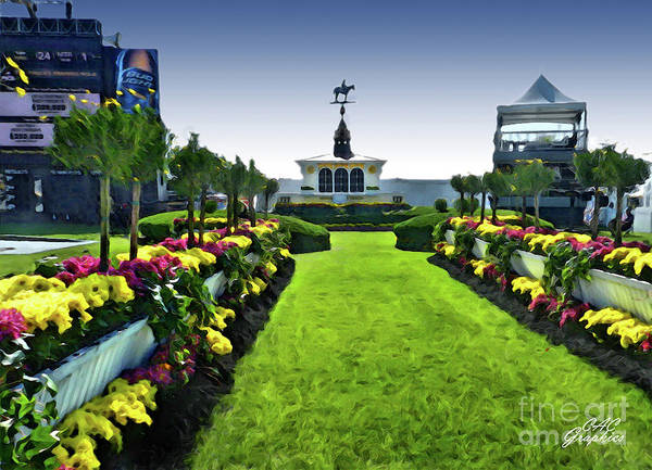 Painting - Path To The Winners Circle by CAC Graphics