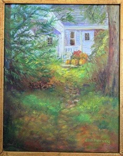 Wall Art - Painting - Pathway From The Tree House by Jan Harvey