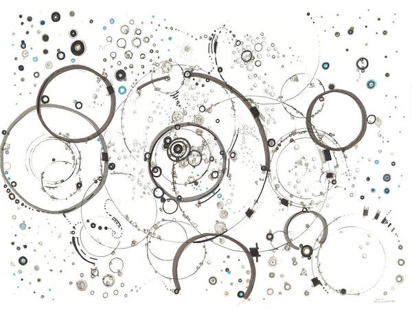 Drawing - Pathways Through The Multiverse by Regina Valluzzi