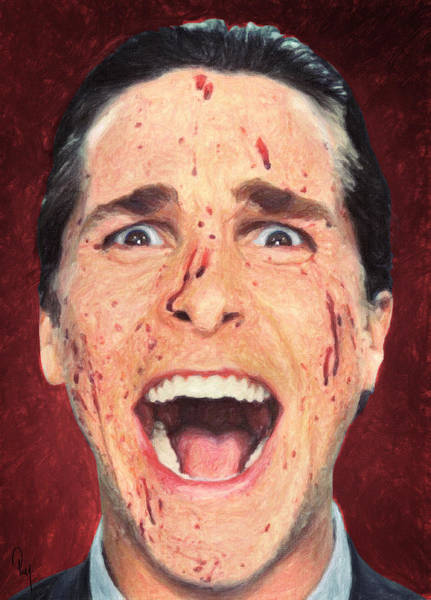 Serial Killer Painting - Patrick Bateman by Zapista Zapista