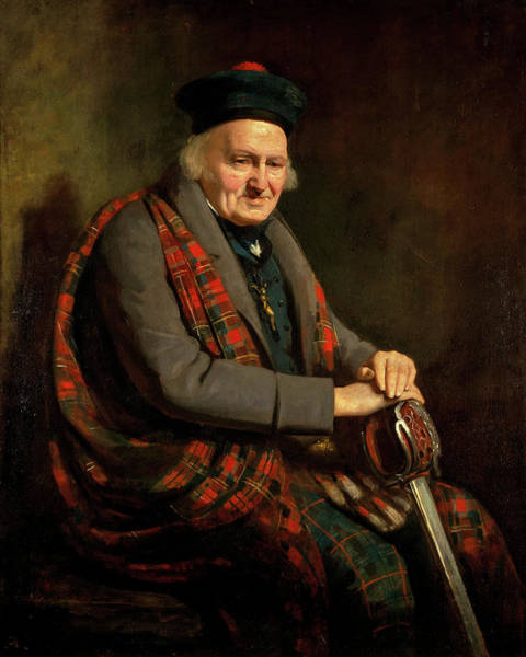 Bagpipes Wall Art - Painting - Patrick Grant, 1822 by Colvin Smith