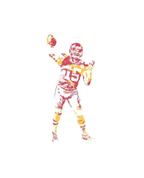 Wall Art - Mixed Media - Patrick Mahomes Kansas City Chiefs Apparel T Shirt Pixel Art 2 by Joe Hamilton