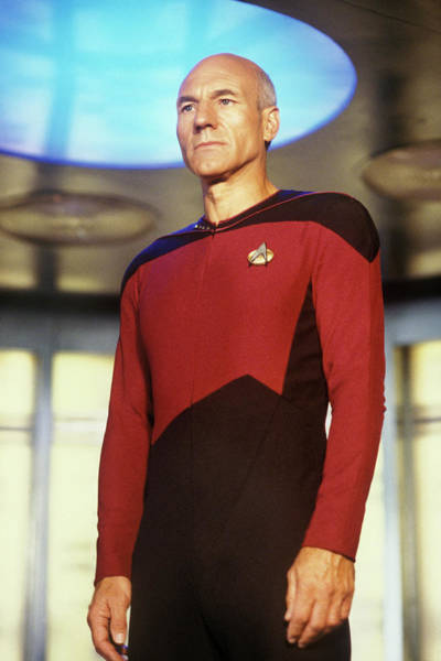 Photograph - Patrick Stewart Of Star Trek The Next by George Rose
