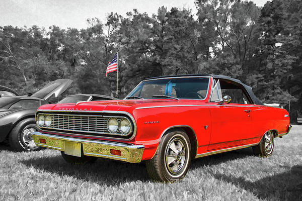 Photograph - Patriotic 64 Chevy Chevelle by Kristia Adams