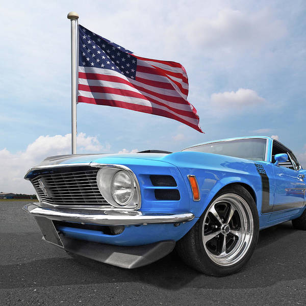 Photograph - Patriotic Boss Mustang by Gill Billington