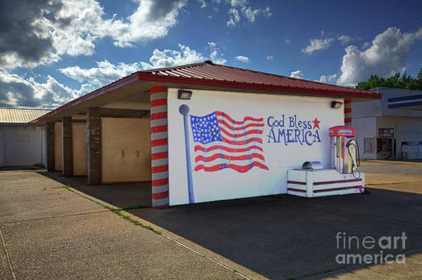 Wall Art - Photograph - Patriotic Car Wash by Larry Braun