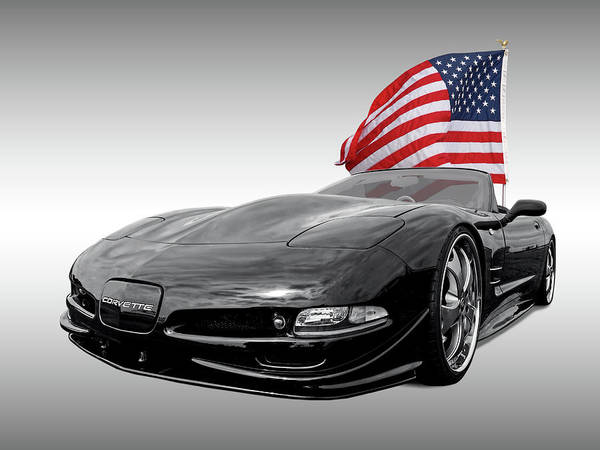 Photograph - Patriotic Corvette C5 by Gill Billington