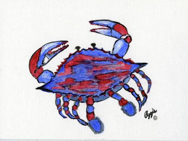 Painting - Patriotic Crab by Stephanie Agliano