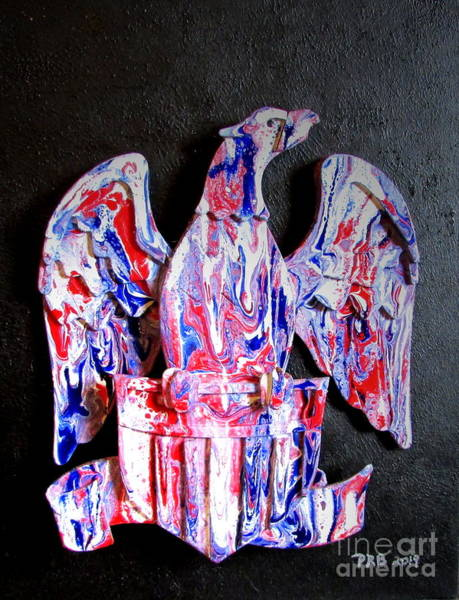 Prb Mixed Media - Patriotic Eagle 1 by Pamula Reeves-Barker