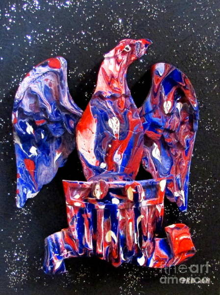 Prb Mixed Media - Patriotic Eagle 2 by Pamula Reeves-Barker