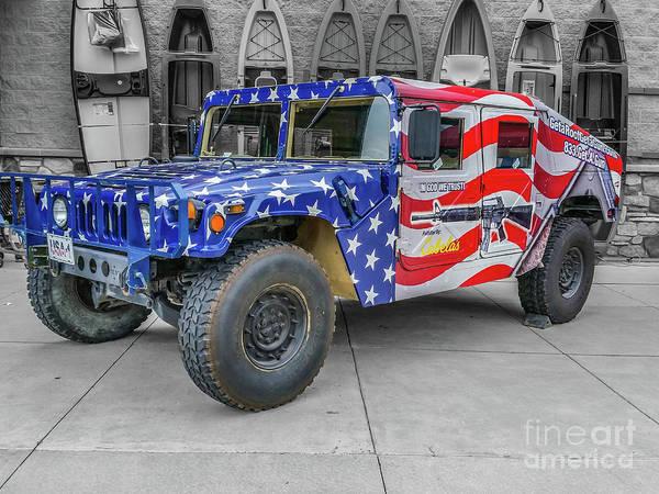 Wall Art - Photograph - Patriotic Hummer by Tony Baca