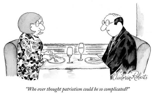 Drawing - Patriotism by Victoria Roberts