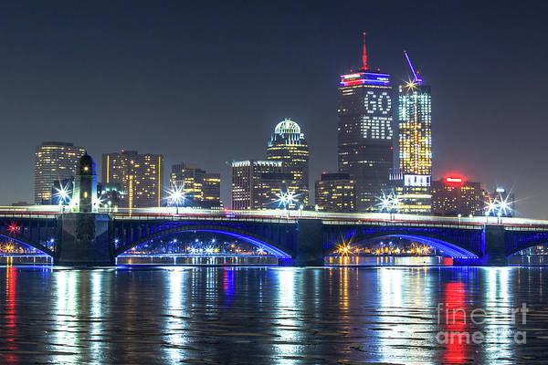 Gronkowski Photograph - Patriot's Boston Super Bowl Skyline by Ryan McKee
