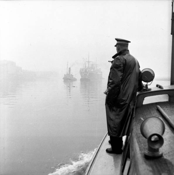 Clyde Photograph - Patrolling The Clyde by Bert Hardy
